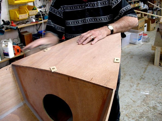 gunwales, boat, wooden, worker, sanding, edges