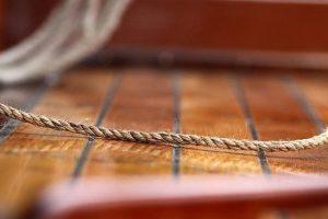 Varnish, teak, boat, rope