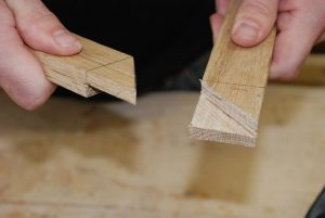 wood, woodworking, frame, joint, hands, marked