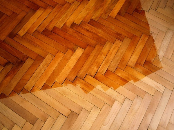 wooden, parquet, floor, working, varnishing, lacquer