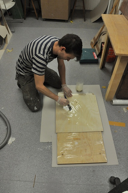 plywood, primer, paint