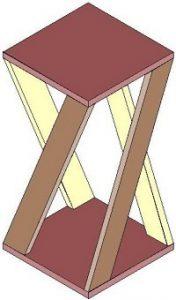 angle, speaker stand, design, wood