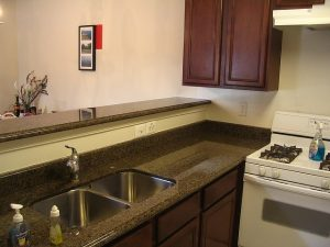 kitchen, countertop, sink