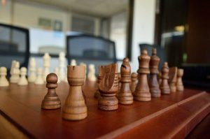 chessboard, chess, wooden, pieces