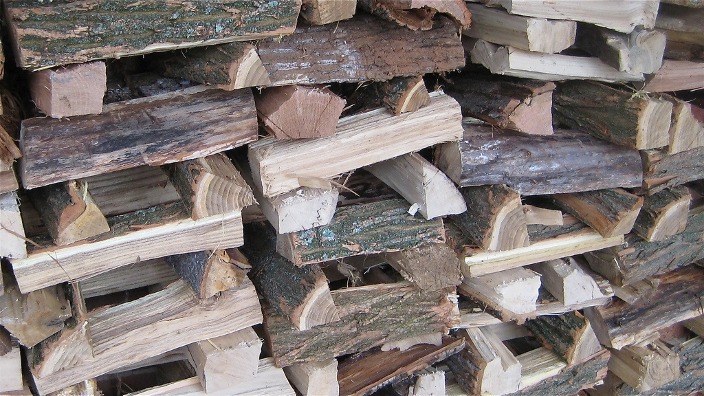 stacked firewood, wood, wooden, stack