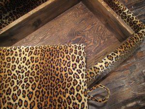 leopard print, storage, ottoman