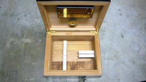 humidor, wooden box, cigars