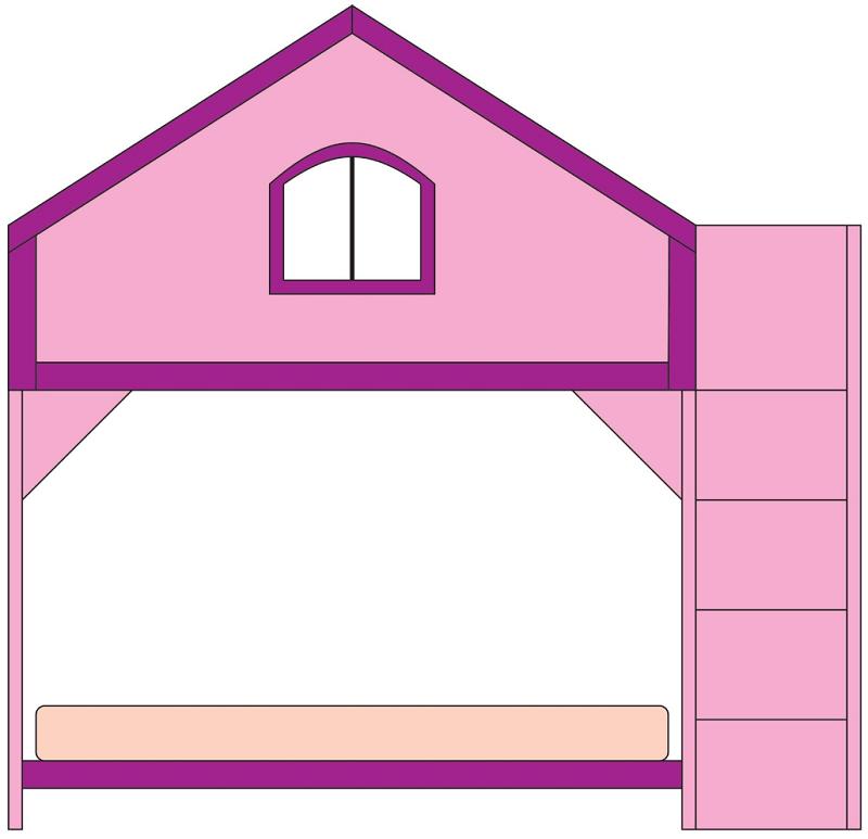 playhouse bunk bed, sketch
