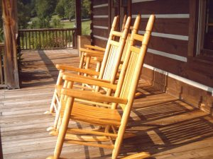 rocking chairs, poarch, wooden