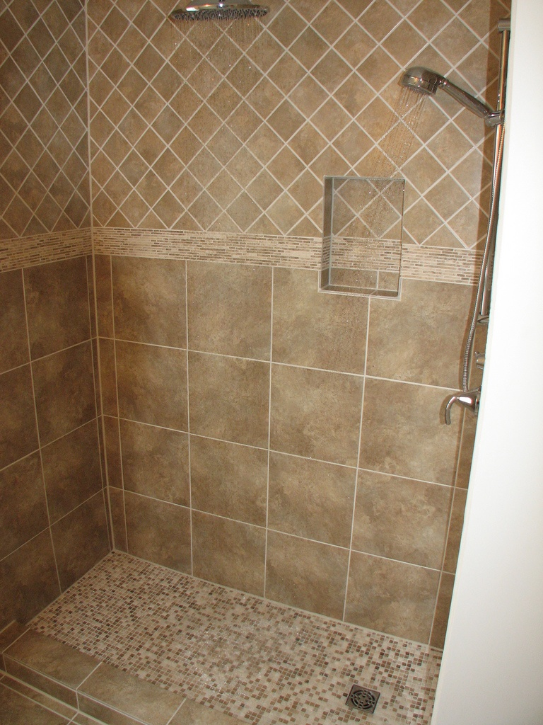 shower pan, bathroom, tiles