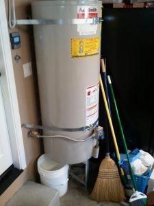 water heater, basement