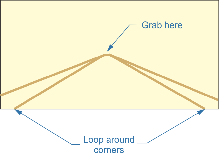 rope carrier,grab here,loop around corners