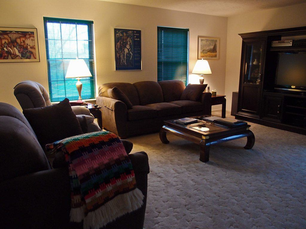 furniture, living room, couch, lamp