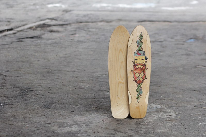 skateboard, decks, wooden