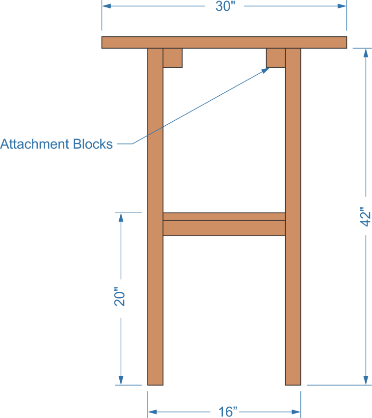 cocktail table, table dimensions