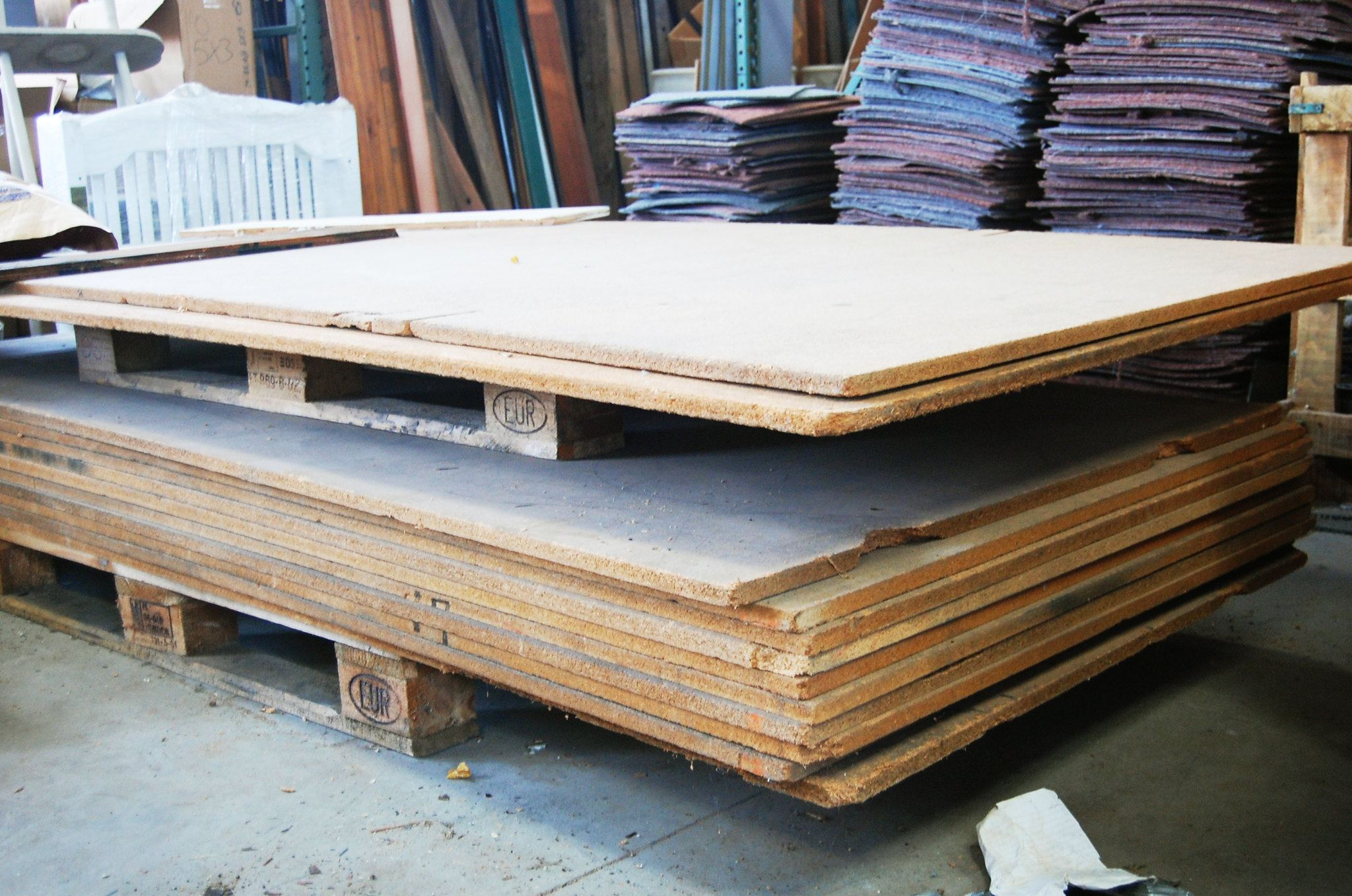 particle board, sheets, wooden, pallets
