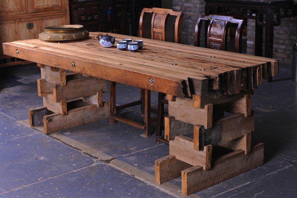 reclaimed hardwood table, wooden