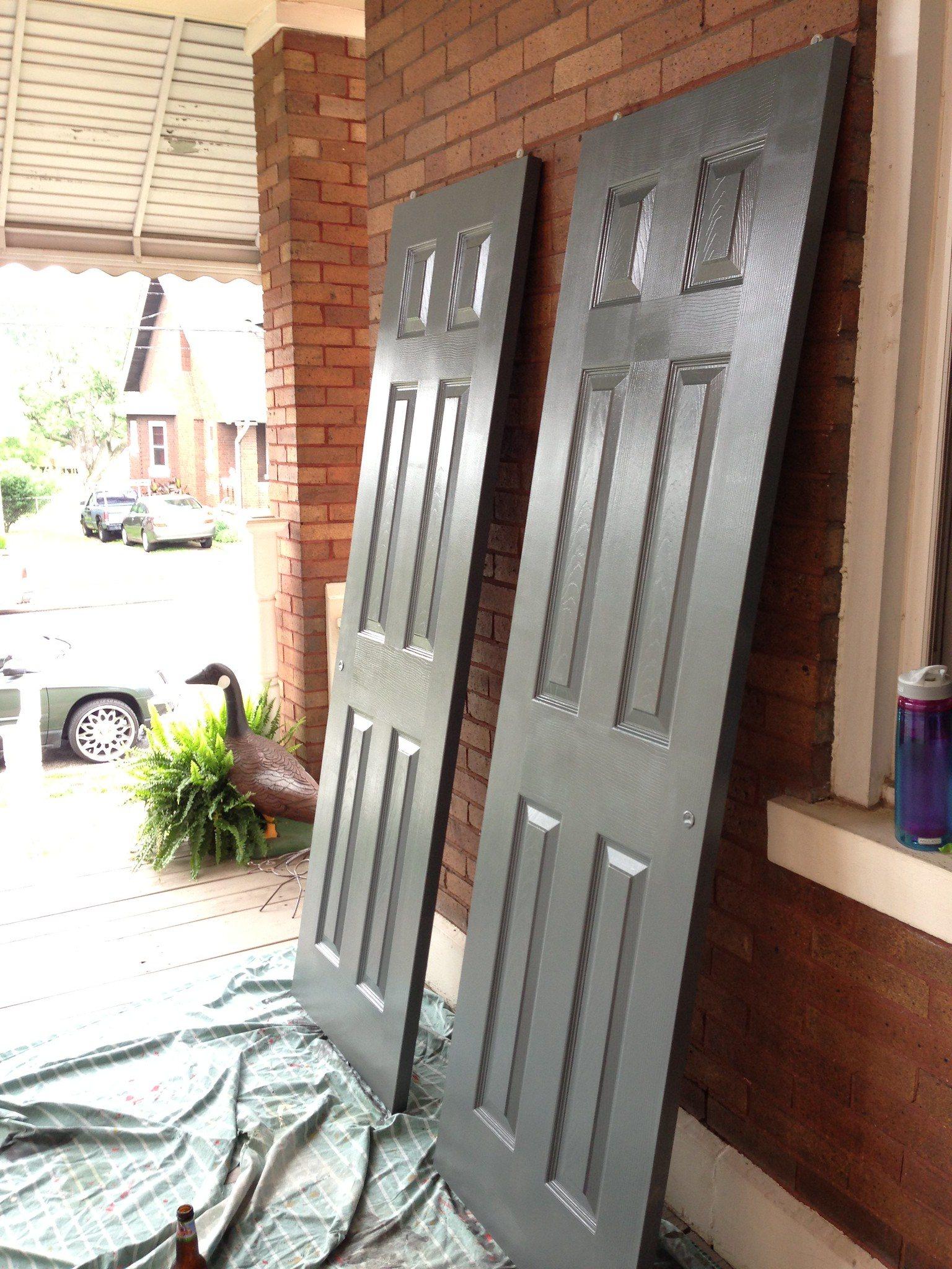 diy, panel door, painting