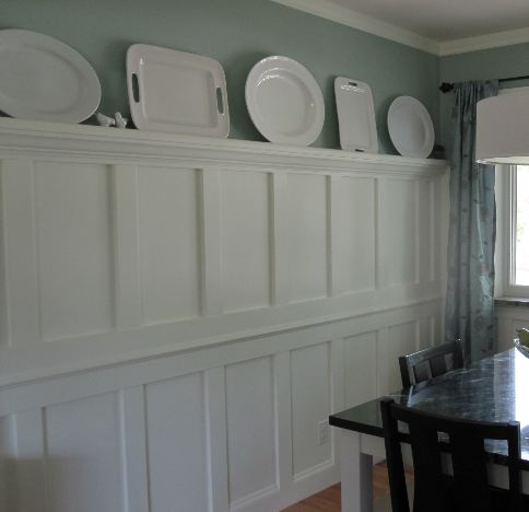 wainscoting with shelf, wainscoting design