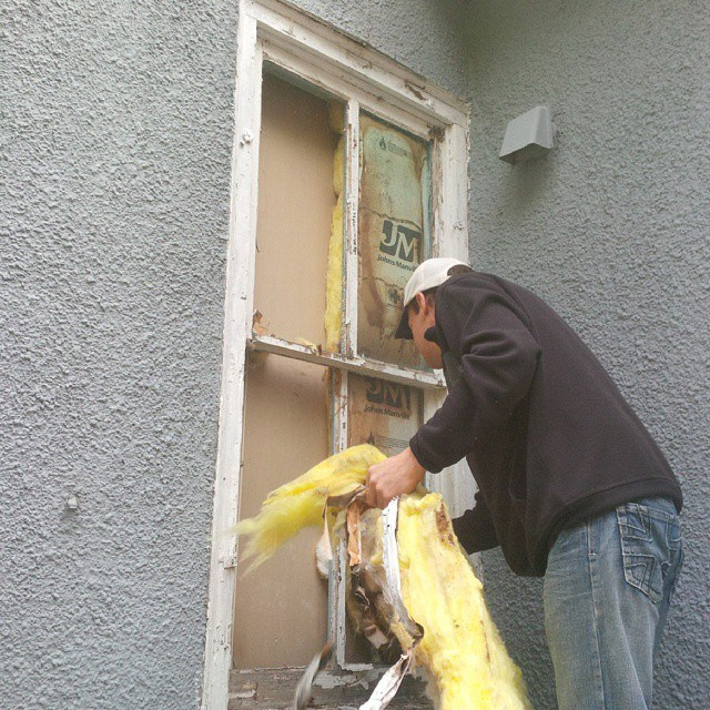 covering with stucco