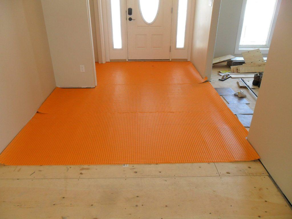 floor preparation for ditra