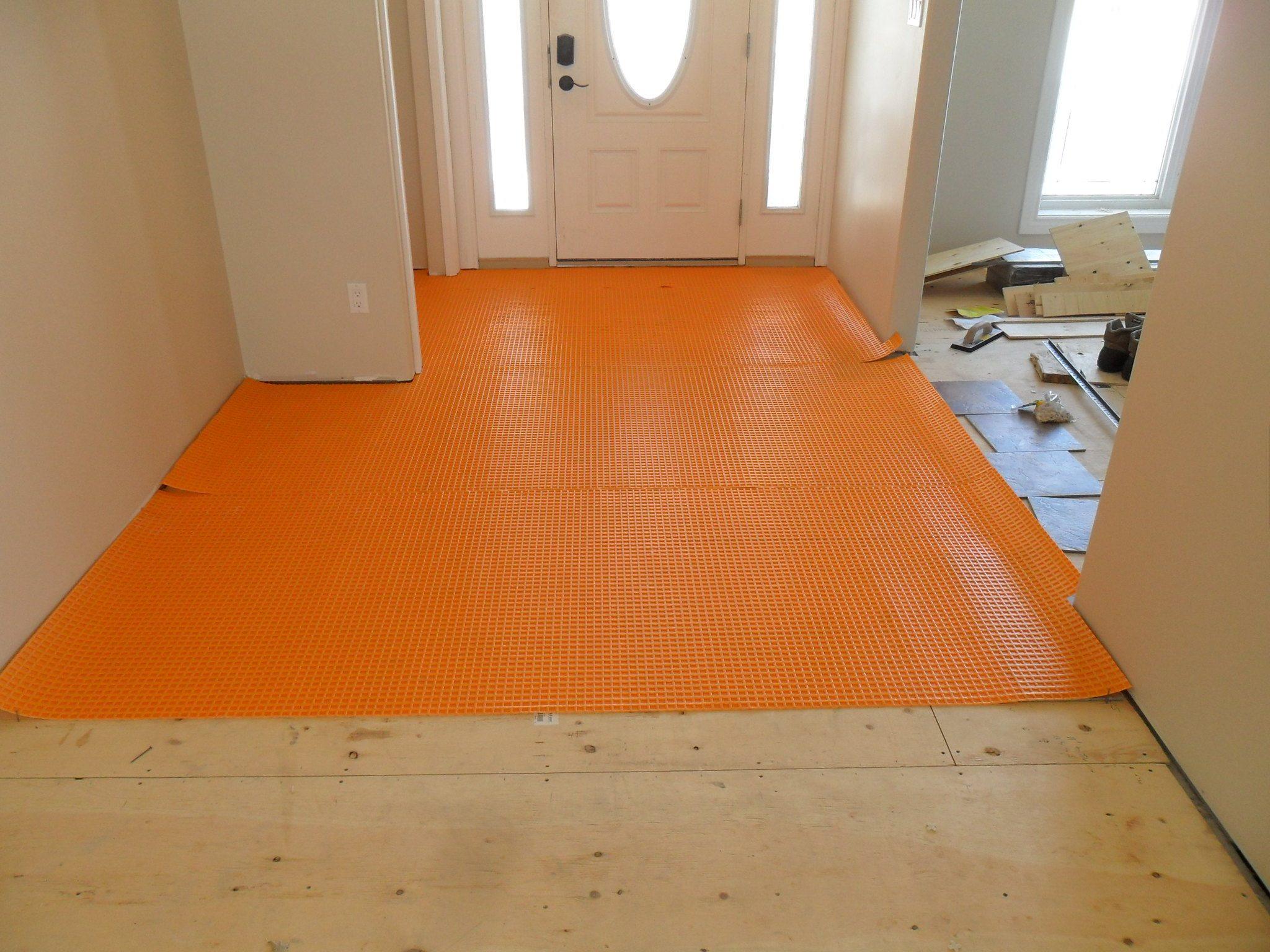 floor preparation, ditra