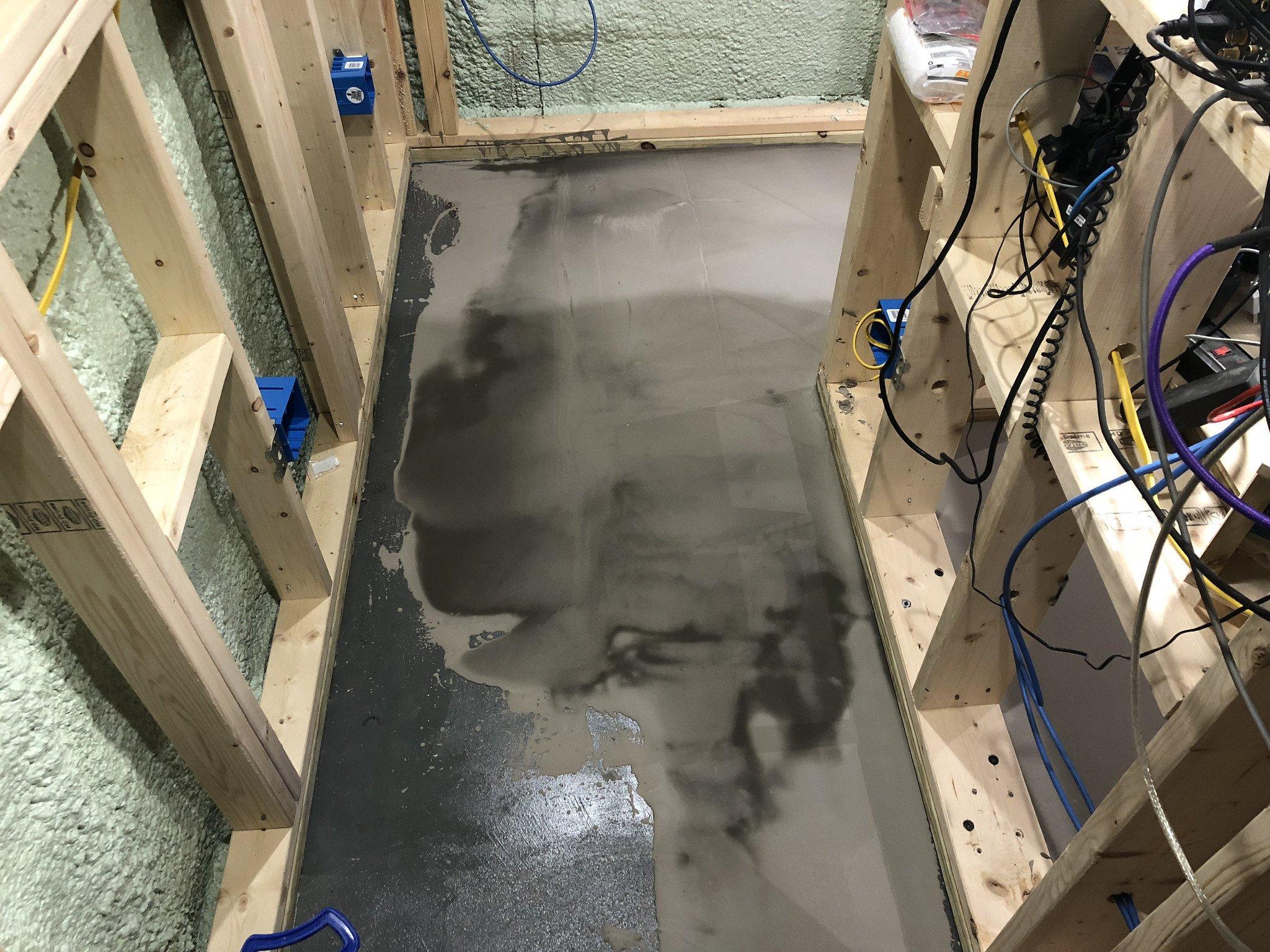 leveling a wood subfloor, self-leveling compound, wood subfloor