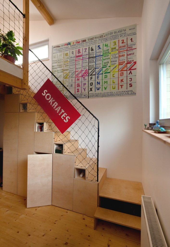 plywood stairs, diy