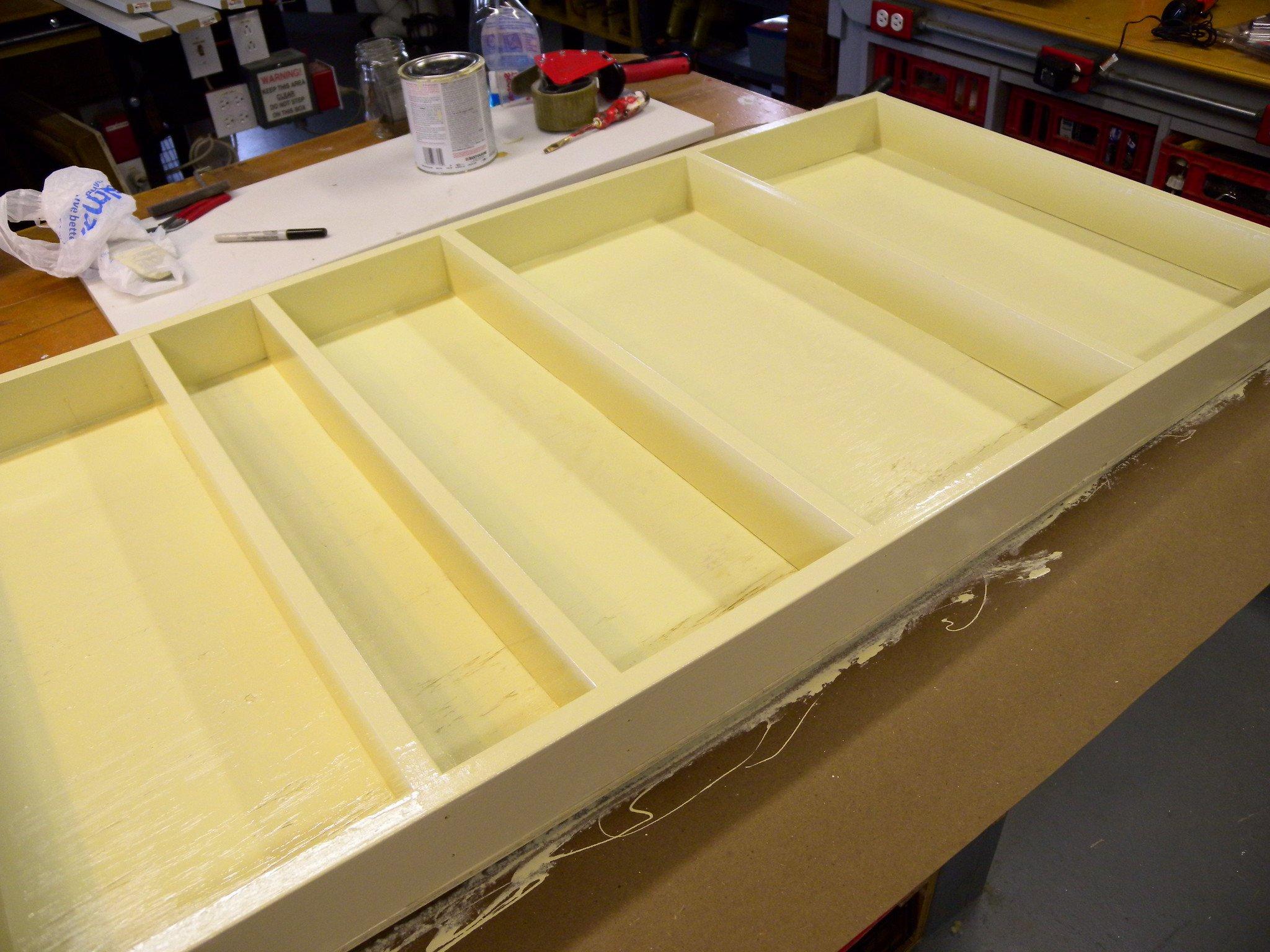 scrap plywood shelves