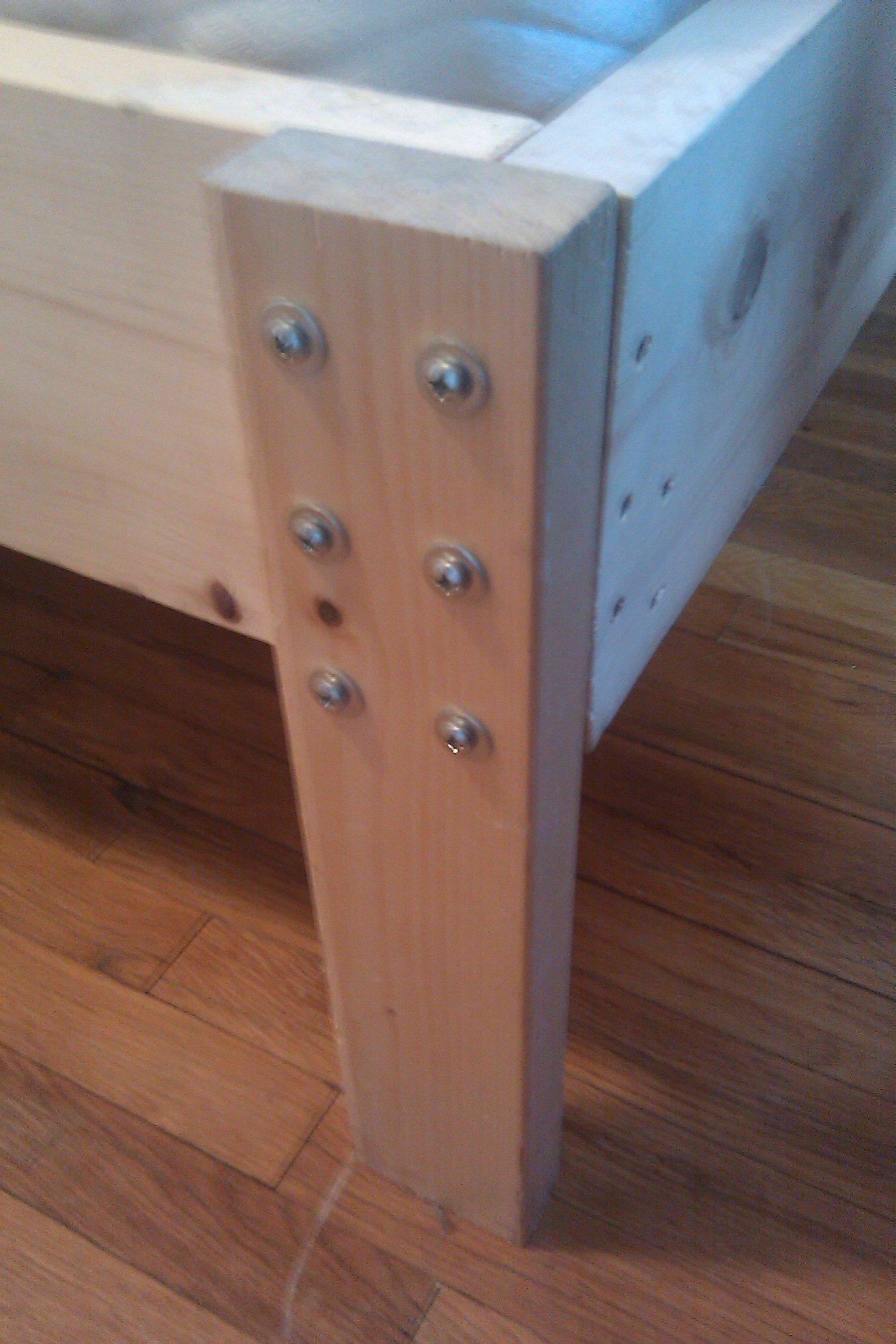 bed frame, bed leg, wooden