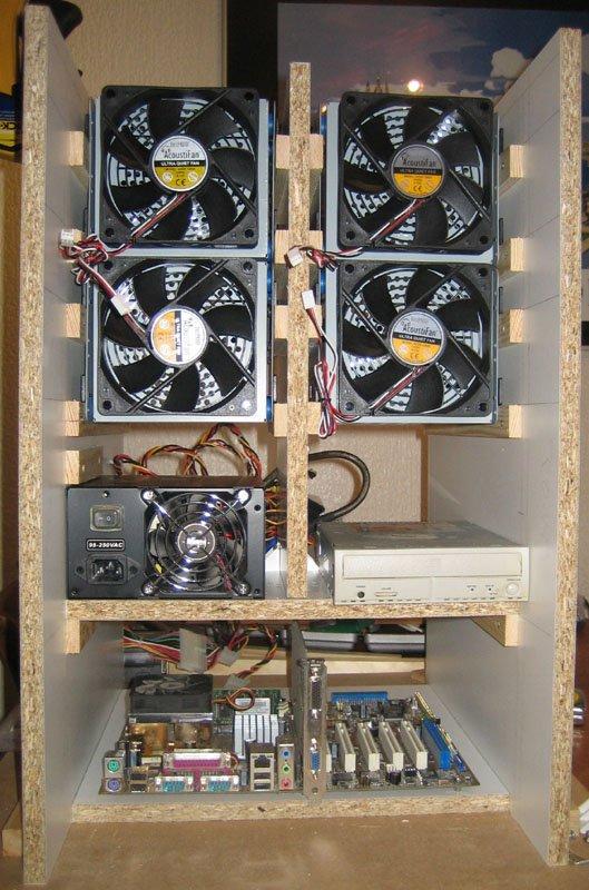 wooden computer case, pc, vent