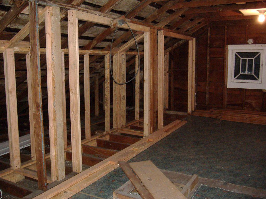 attic, closet framing