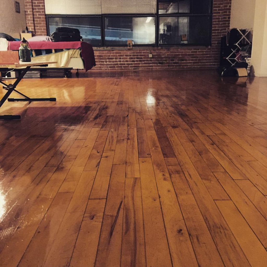 cleaning, polishing, wood floor