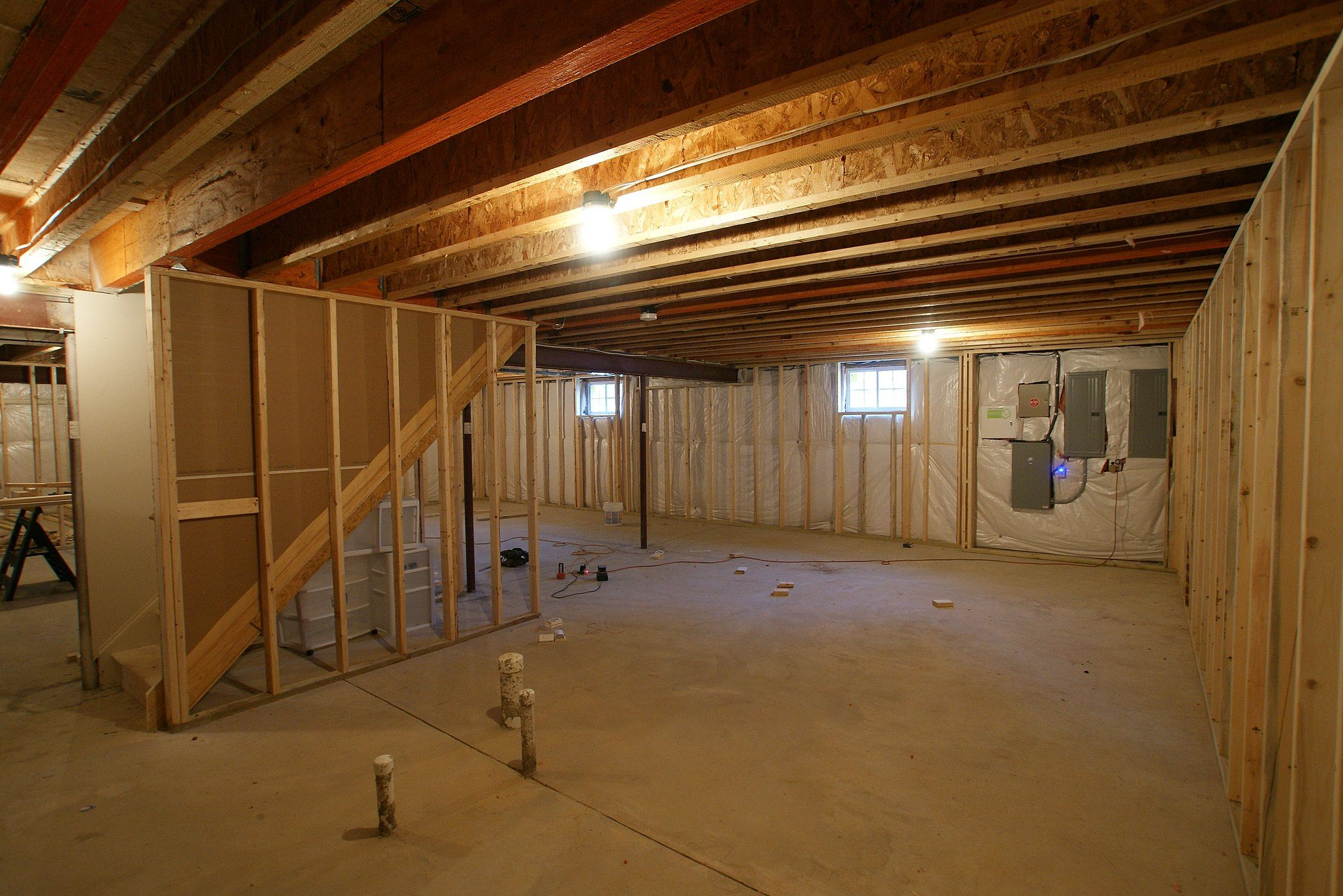 basement, framing