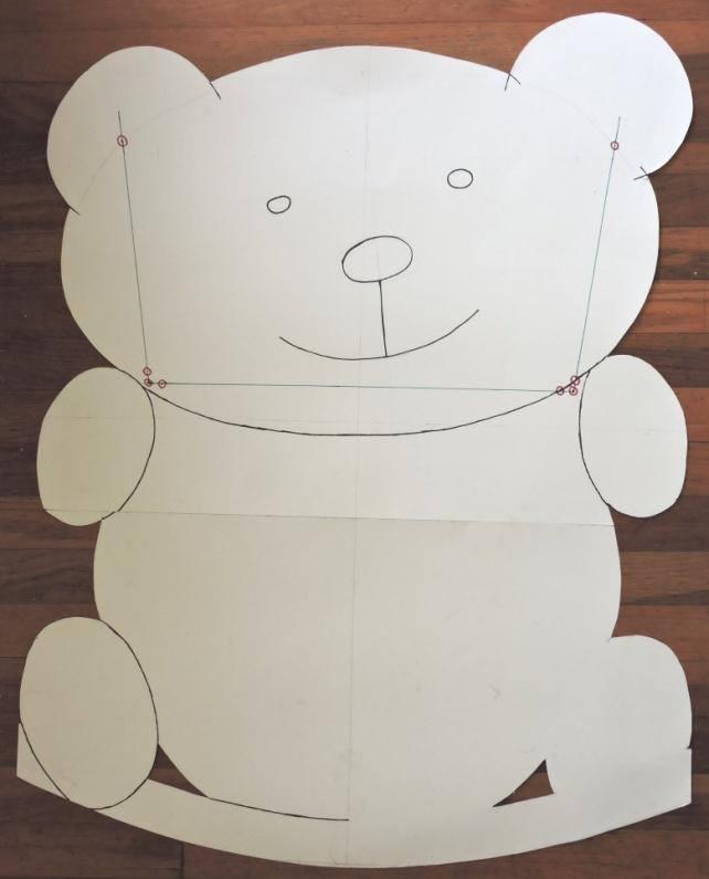 teddy bear rocking cradle sketch
