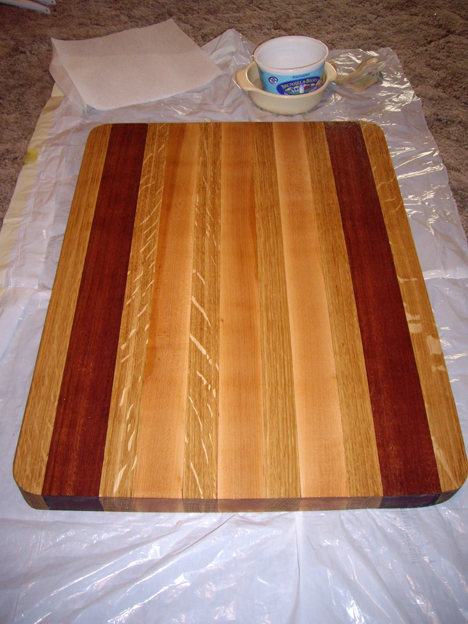 cutting board, wooden, cleaning, oiling
