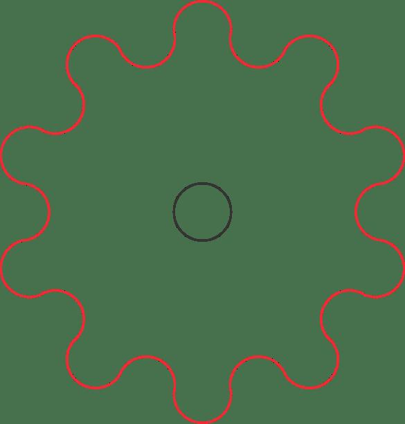 gear outline