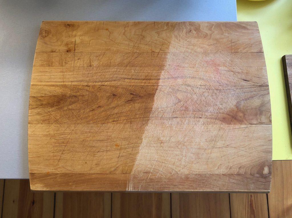 oiling, cutting board