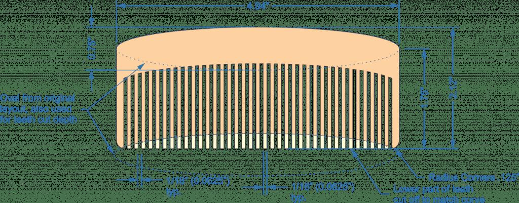 basic comb layout, radius corners, oval layout, original layout