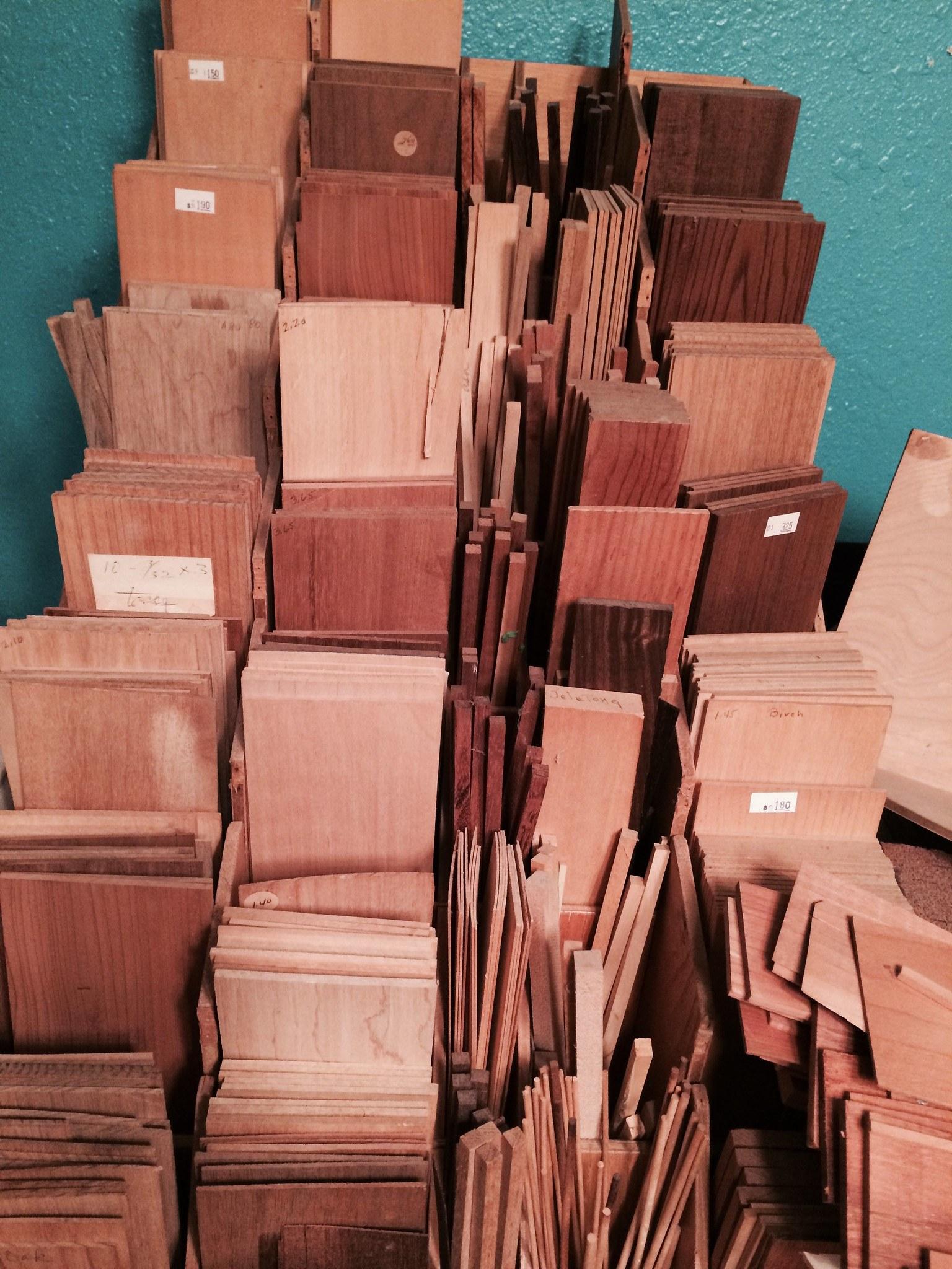 hardwoods, softwoods