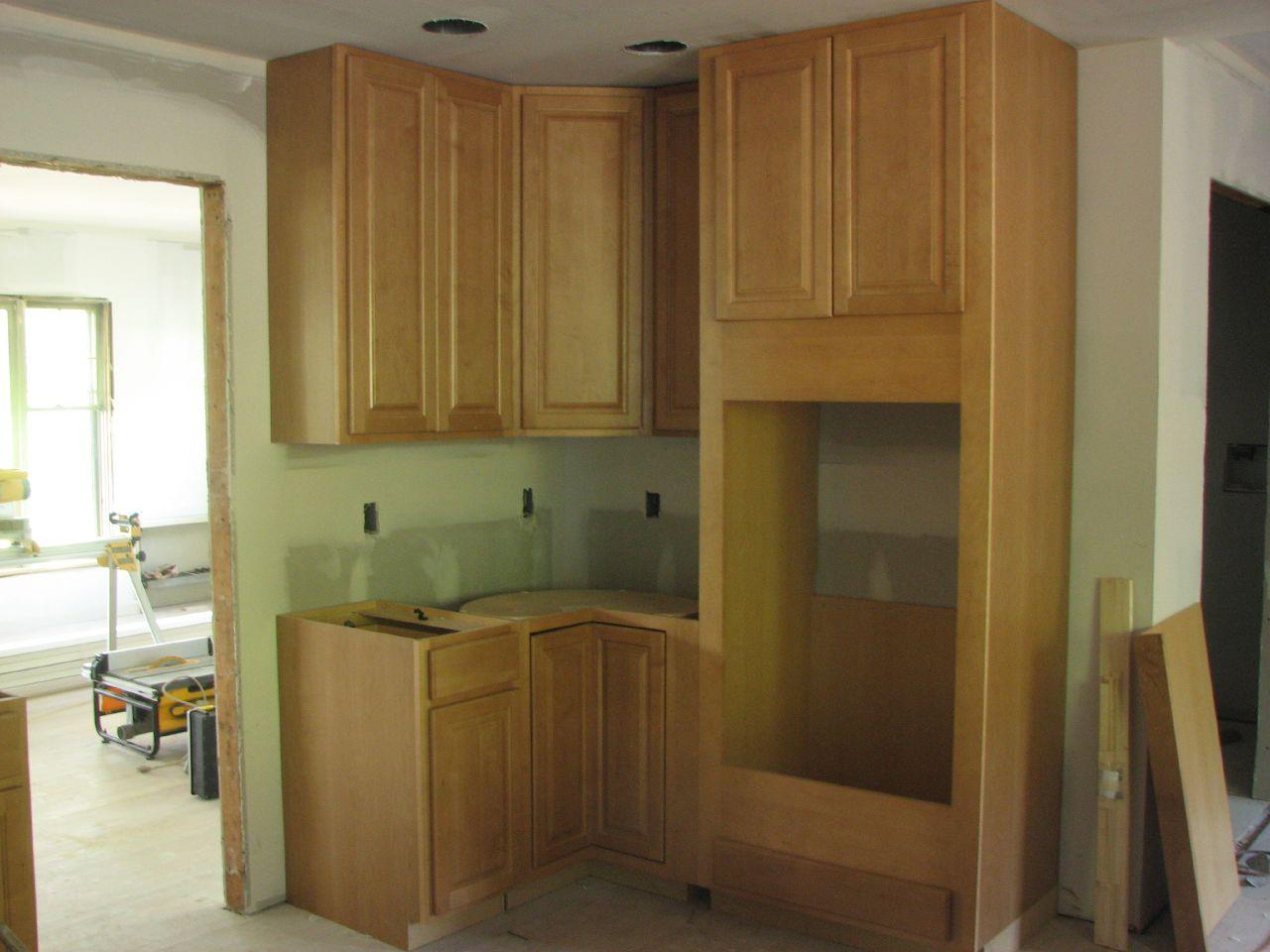 oven, base cabinet